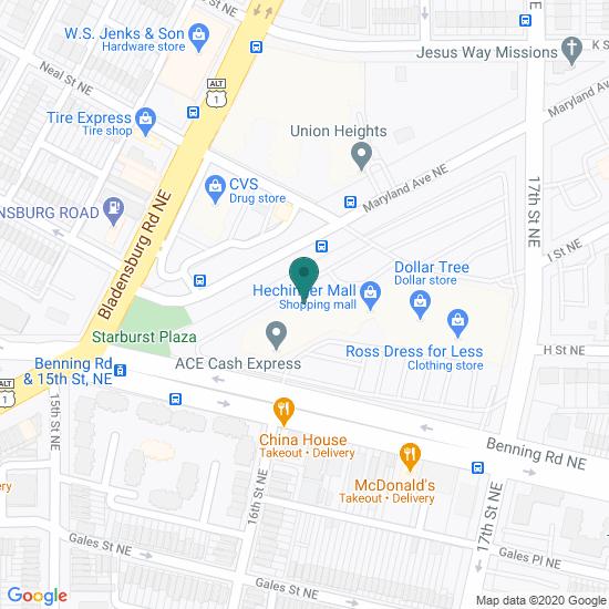 Map of Hechinger, Washington DC
